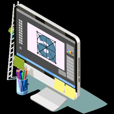 Identité visuelle logo Création de site sur-mesure - Panier de Pixels