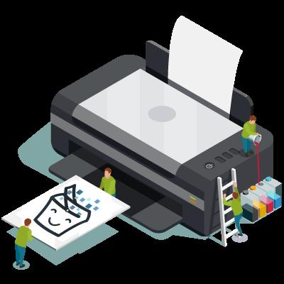 Support Print - Panier de Pixels
