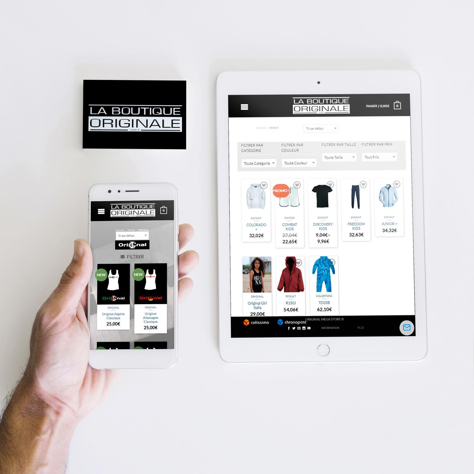 création site boutique vêtements lbo