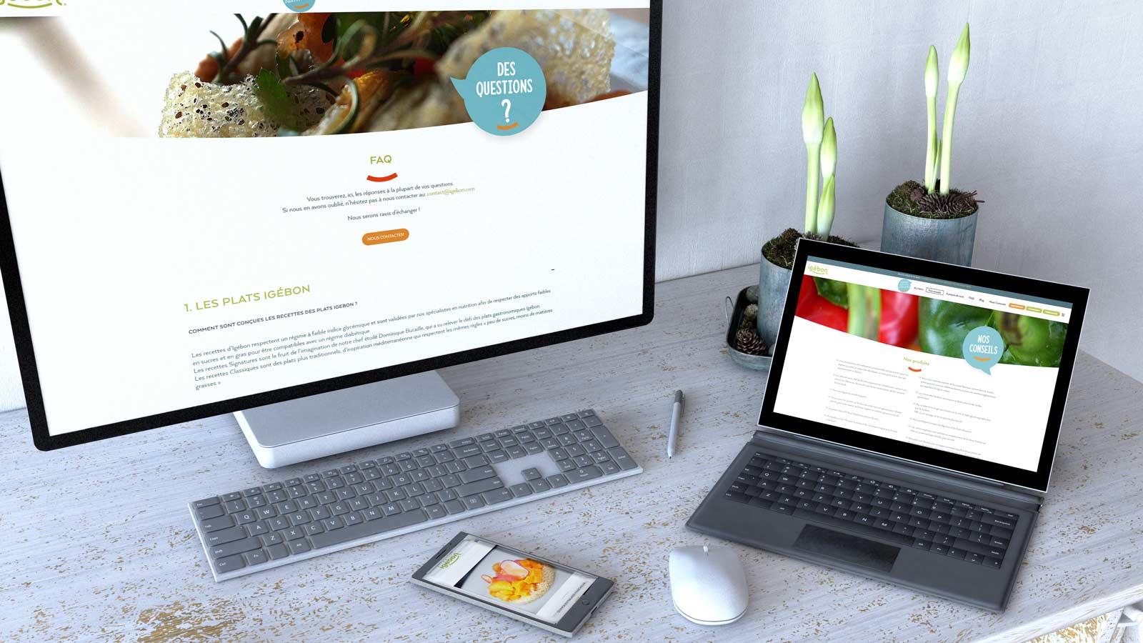 création site e-commerce alimentation igebon