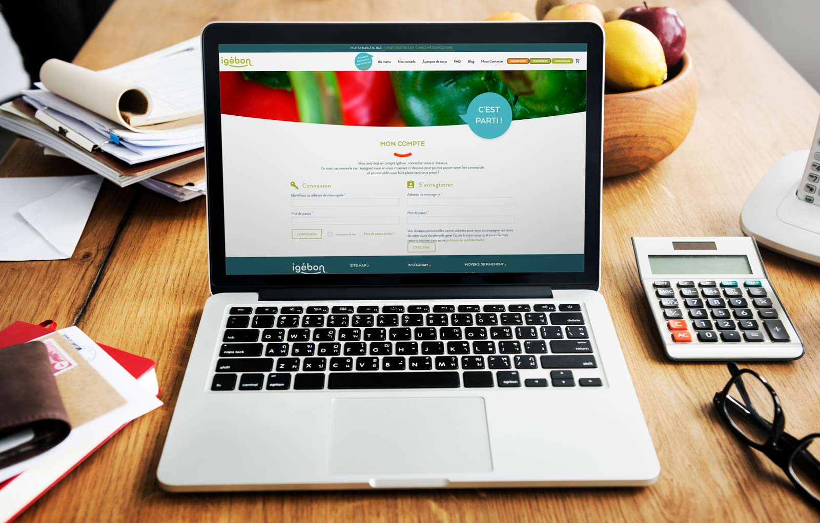création site e-commerce compte igebon