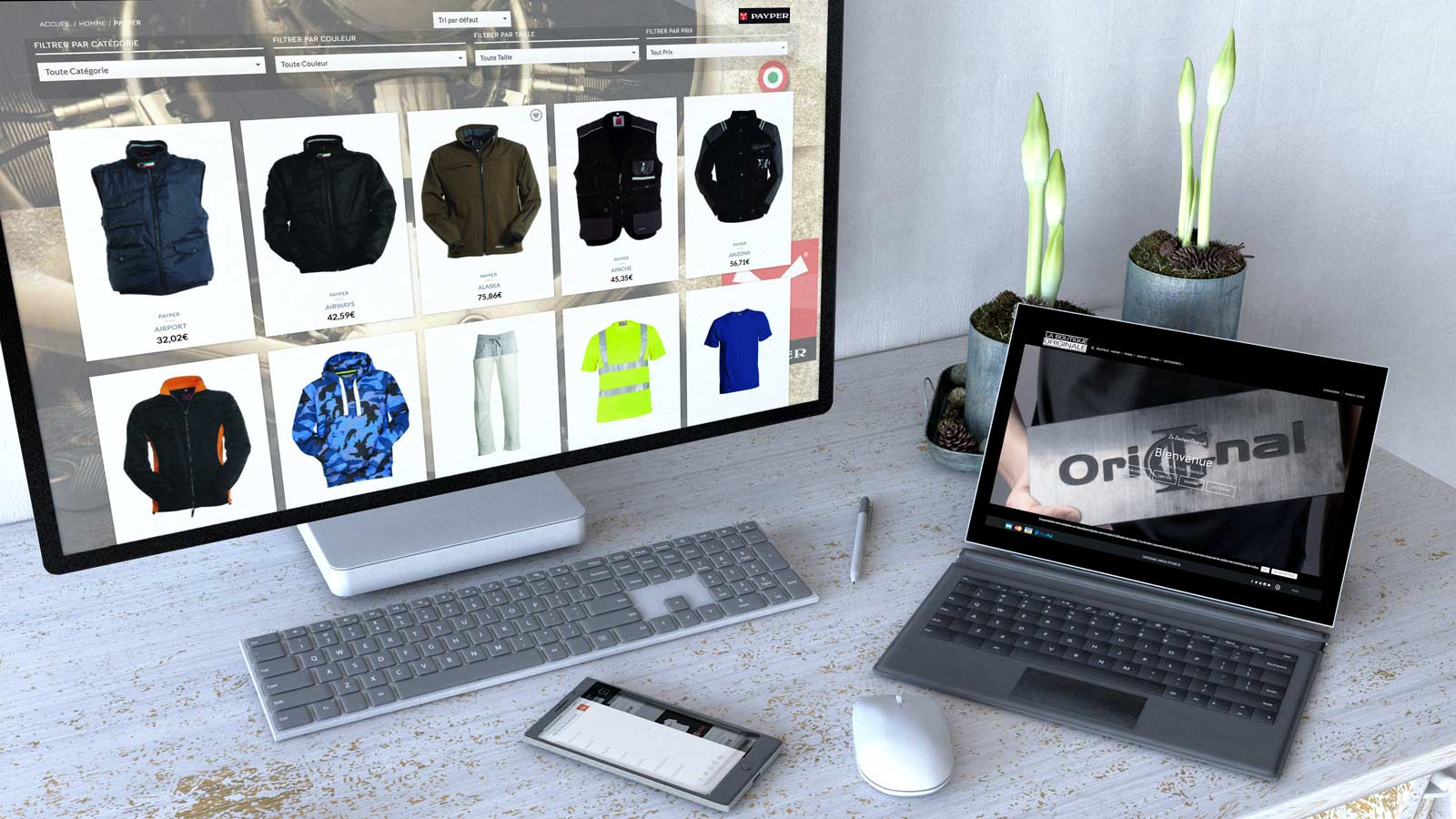 création site e commerce vêtements lbo