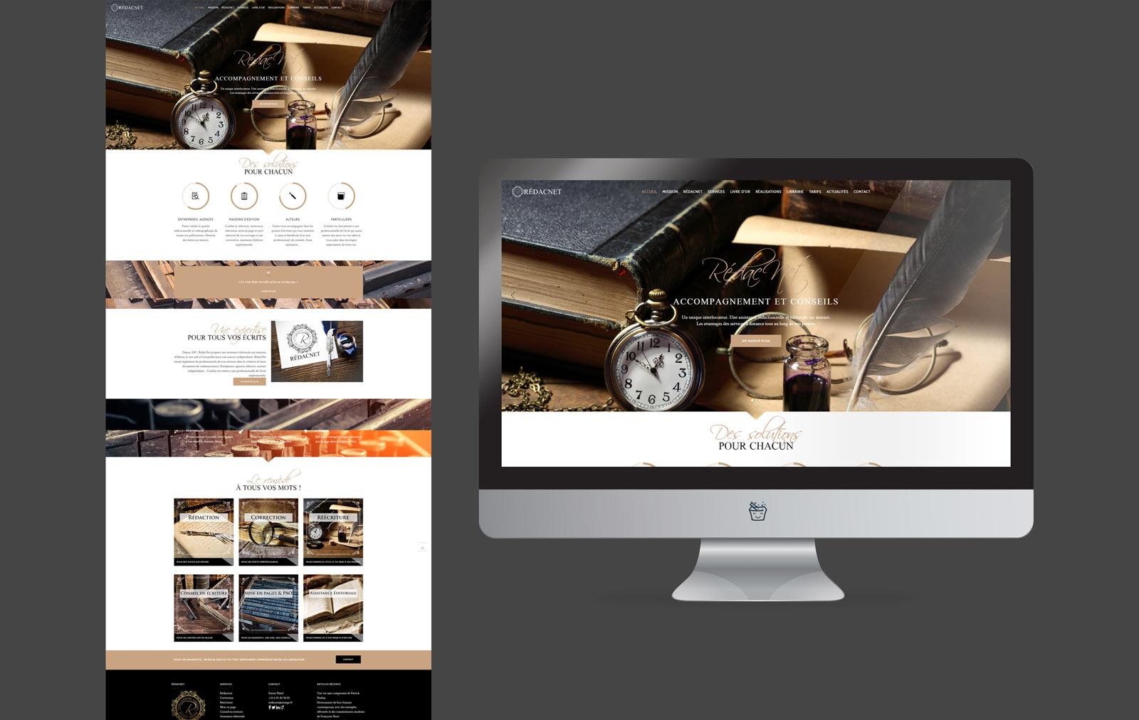 création site indépendant écriture redacnet