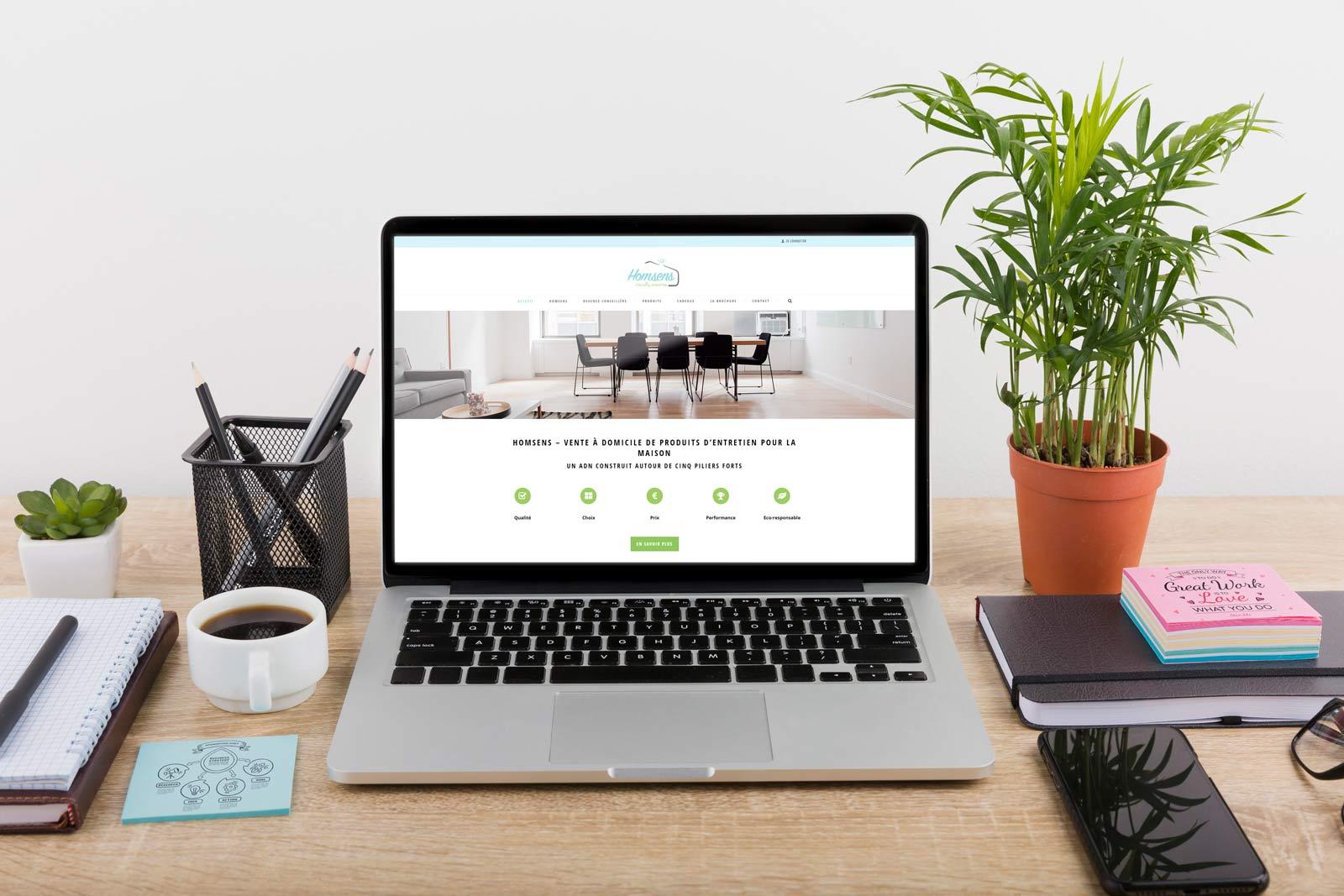 création site web produits ménages homsens