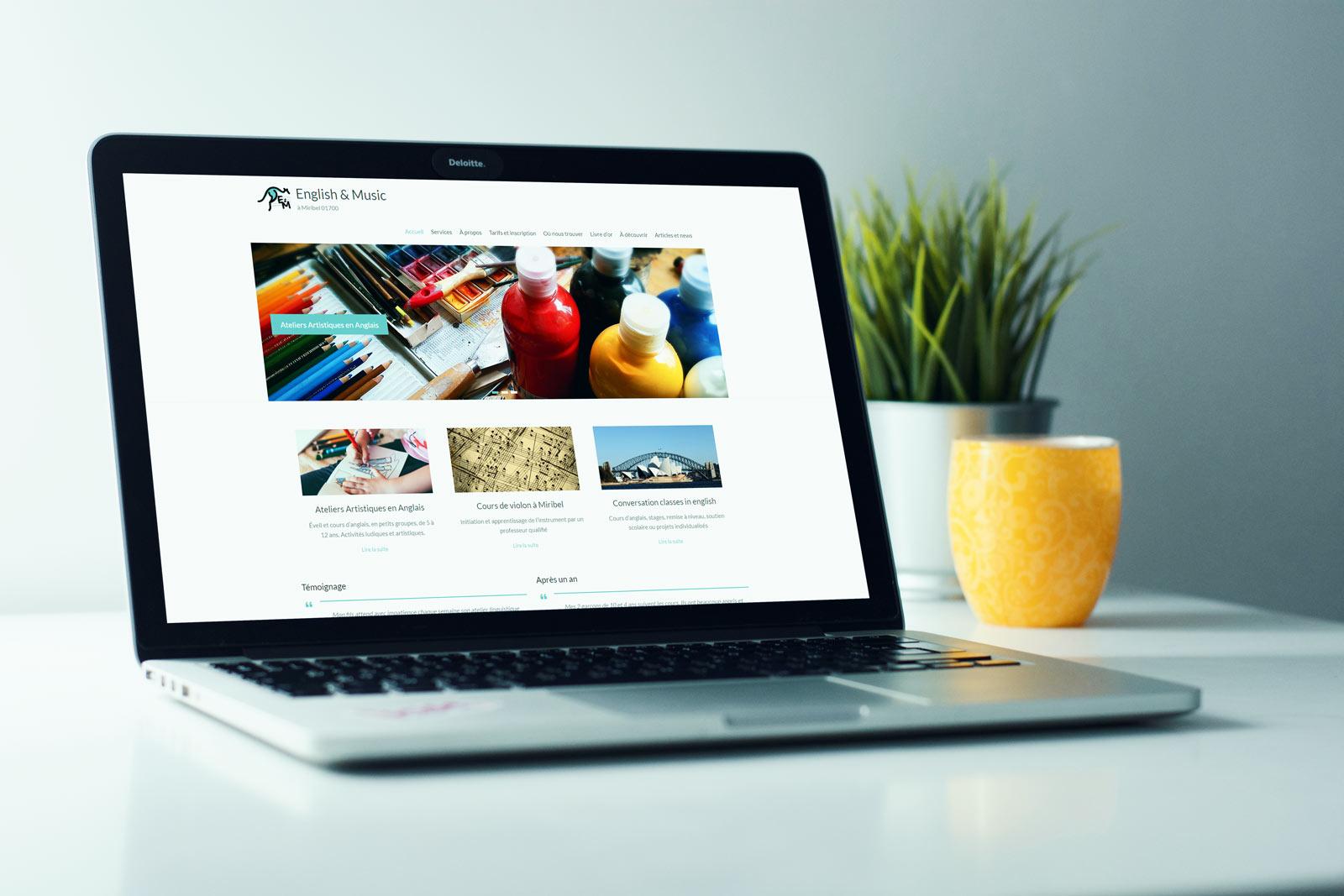 mockup realisation site formation web - eam