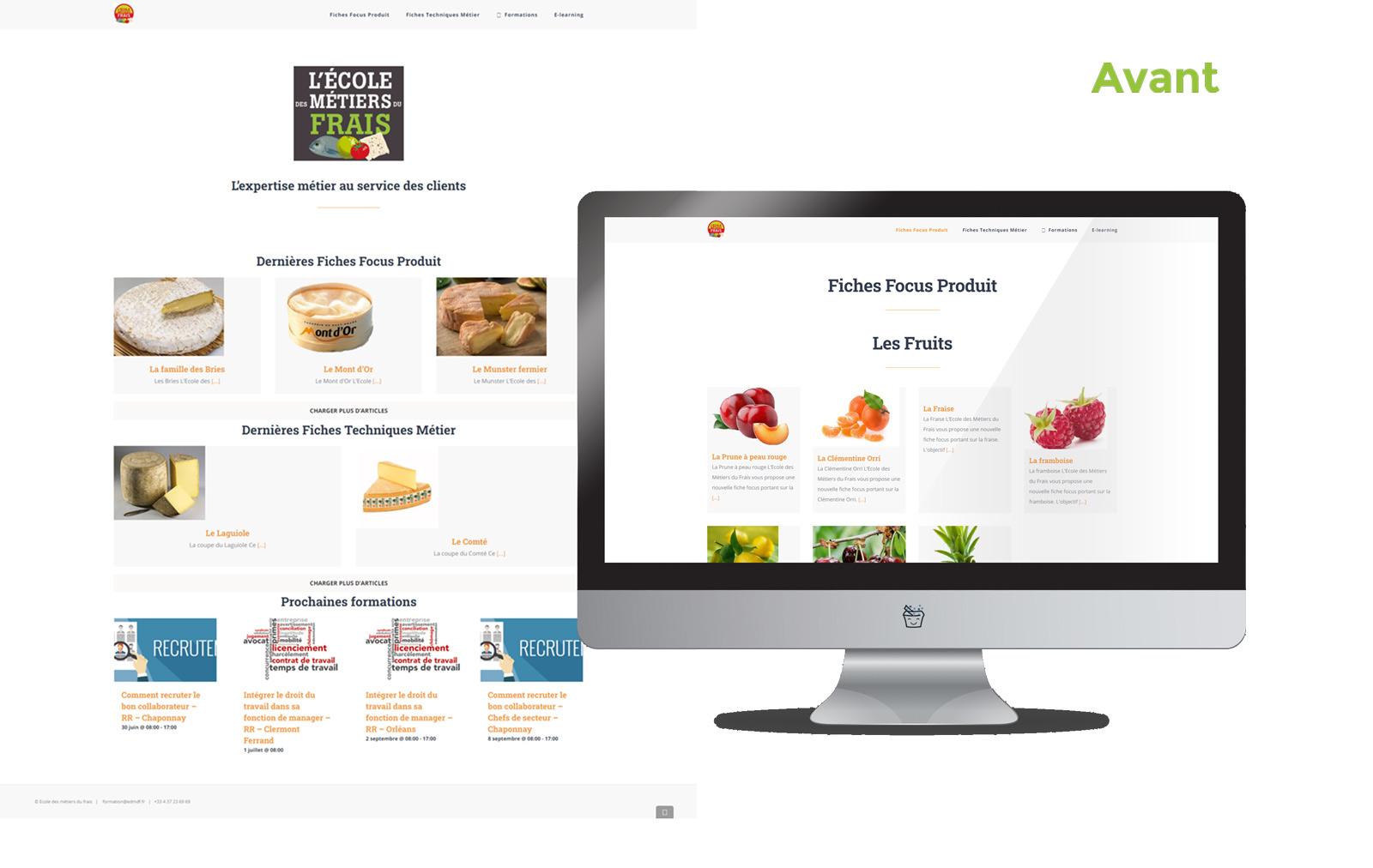 Refonte site web Grand Frais
