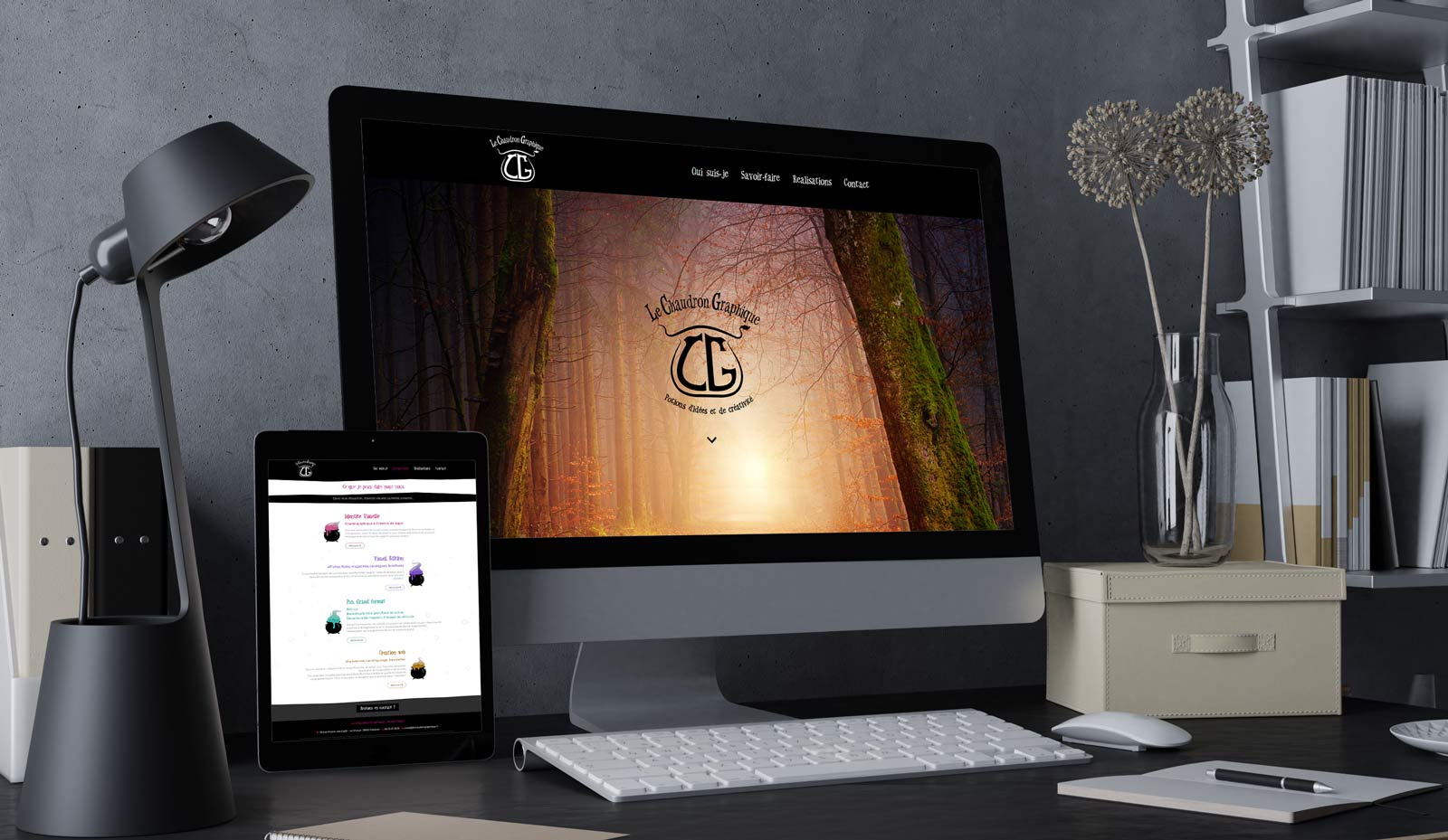 Création de site Web Le Chaudron Graphique