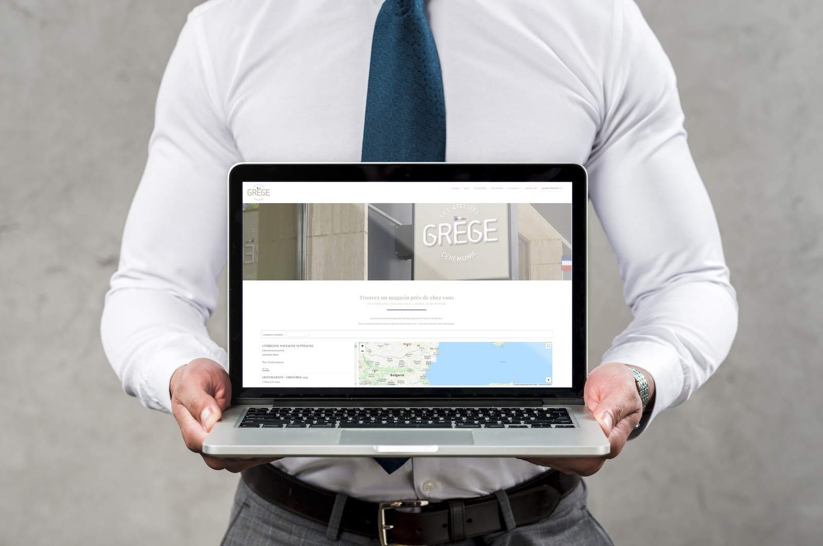 Géolocalisation interactive - Grège France